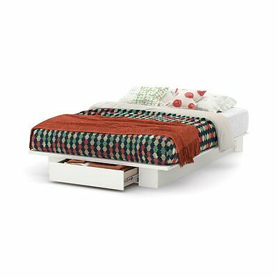 South Shore Furniture 3340215 Holland Full/Queen Platform Bed with Drawer