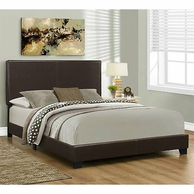Monarch Specialties I 5910Q Upholstered Bed