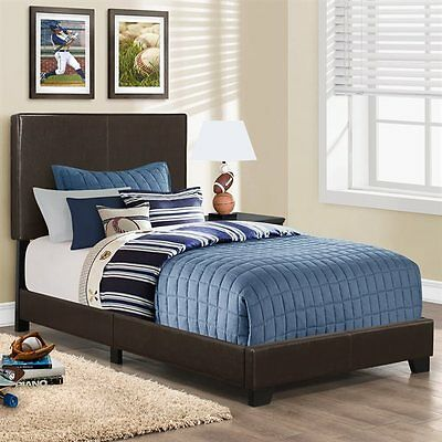 Monarch Specialties I 5910T Upholstered Bed
