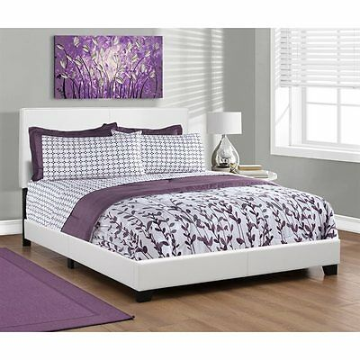 Monarch Specialties I 5911Q Upholstered Bed
