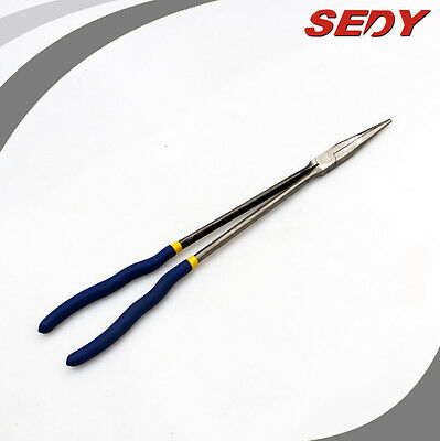 "16"" (410mm) Extra Long Reach Straight Nose Pliers Precision Ground Grip Handle"