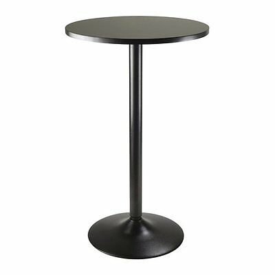 Winsome Wood 20123 Obsidian Round Pub Table