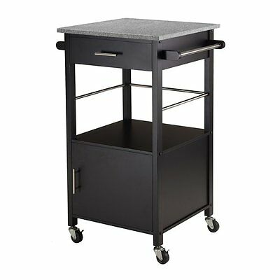 Winsome Wood 20023 Davenport Kitchen Cart with Granite Top
