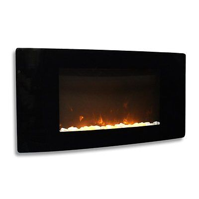 Paramount EF-WM-303 Avondale Curved Wall Mount Electric Fireplace