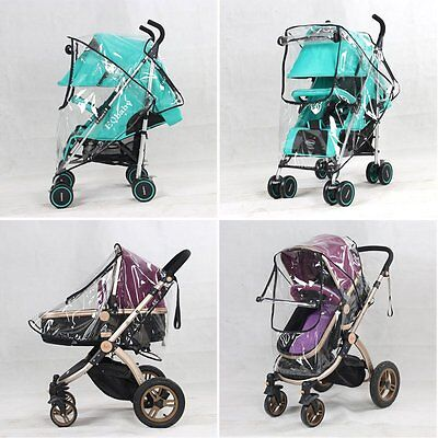 Universal Waterproof Rain Cover Wind Dust Shield Baby Canopy Strollers Pushchair