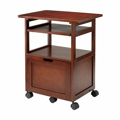 Winsome Wood 94427 Piper Work Cart/Printer Stand with Pullout Keyboard Tray