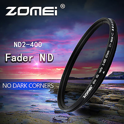 49/52/55/58/62/67/72/77/82mm ND2-400 Filter Slim Fader Variable ND for Camera