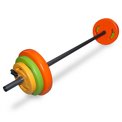 Tunturi 20kg Aerobic Body Pump Weight Set with Plates and Barbell