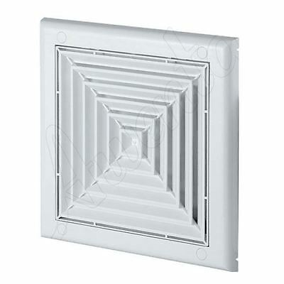 Wall Ventilation Grille Cover with Anti Insects Net Square Shaped 150x150mm