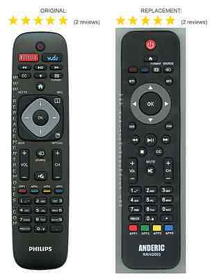Philips URMT39JHG003 Replacement Remote Control with Netflix shortcuts