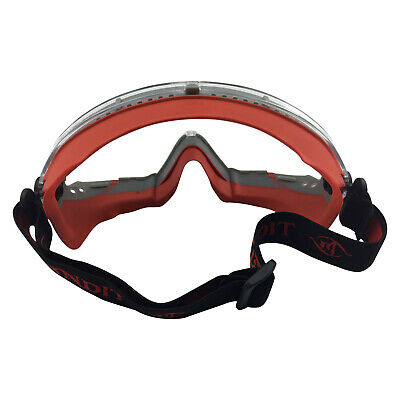 Fire Rated & High Temp Safety Goggles – Frontline - Red Frame Clear Lens 109SR