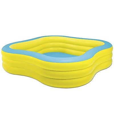 """Intex Swim Center Family Inflatable Pool 90"""" X 90"""" X 22"""" for Ages 6+ Color ma..."""