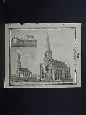 Iowa, 1875 Map, Norwegian Lutheran Church, Decorah, Iowa, Winneshiek M3#09