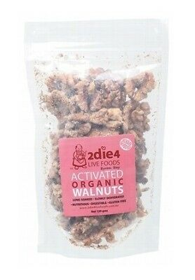 2die4 Live Foods Activated Organic Australian Walnuts 120g