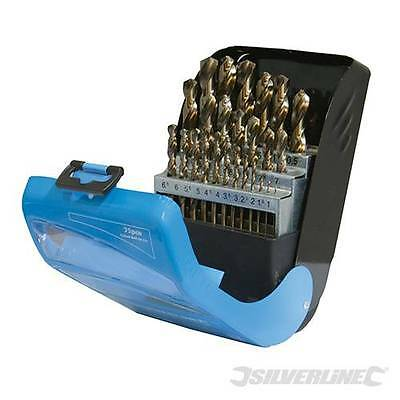 Cobalt Drill Bit Set  25pce  1-13mm in 0.5 incriments  783089