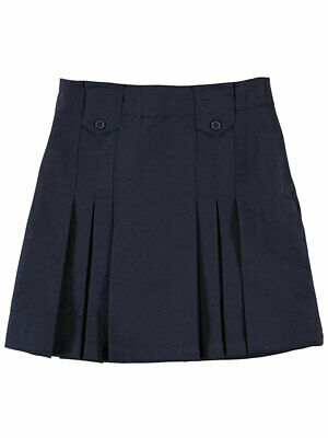 French Toast Big Girls' Pleat and Tab Skirt (Sizes 7 - 20)