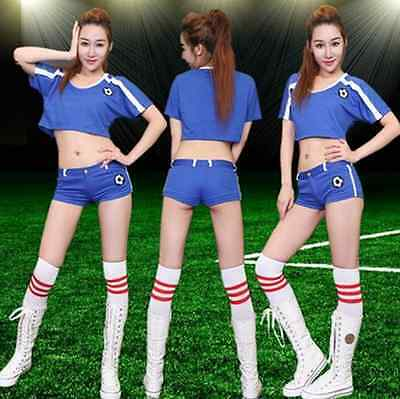 Women Cheerleading Uniform Football Clothing Team Aerobics Sports Uniform 2016