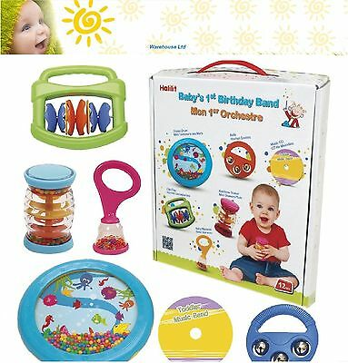 Halilit Baby's First Birthday Band - Musical Band Set - Fast Delivery