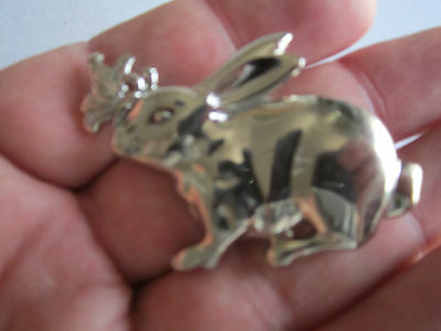John Hardy Signed Rabbit Scarf Clip On Brooch - Tk-2