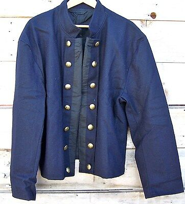 civil war union reenactor officers double breasted shell jacket 46
