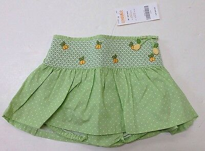 NWT Gymboree Lemon Tree 18-24 Months Smocked Green Polka Dot Skirted Bloomers