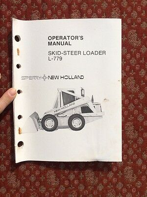 Sperry New Holland Skid Steer Loader Operators Manual L-779
