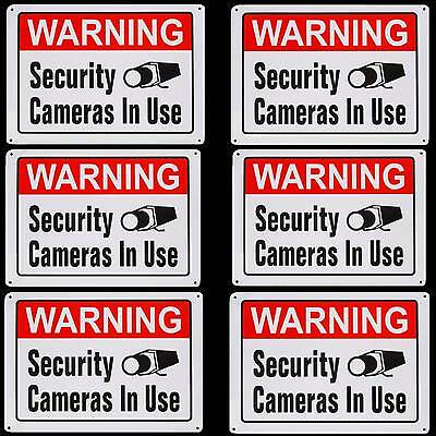 Large Metal Home Security Camera System In Use Burglar Warning Yard Sign Lot