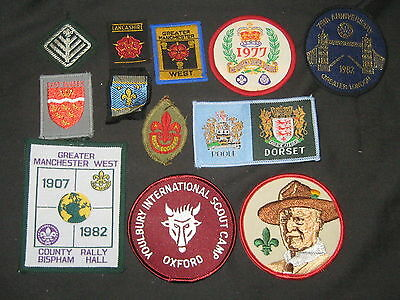 Great Britain, lot of 12 Boy Scout Patches   c30