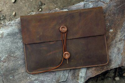 "Vintage leather macbook sleeve case for new macbook air / pro 12 "" 13 "" 11"" 15"""
