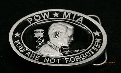 Pow Mia Belt Buckle Made In Us Army Marines Navy Air Force Uscg Pin Up Gift Wow