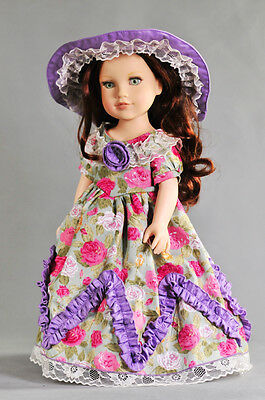 """handmade dress clothes outfit for 18""""American Girl Doll 52"""