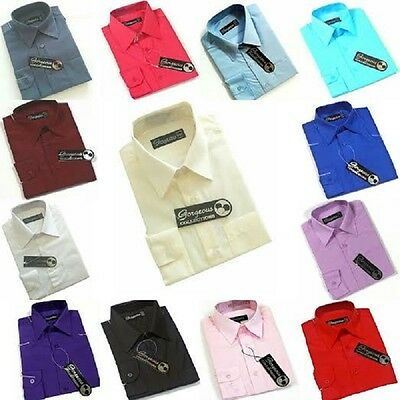 Boys Dress Shirts Kids Plain  1-16 years Boys Formal wear Occasion wear