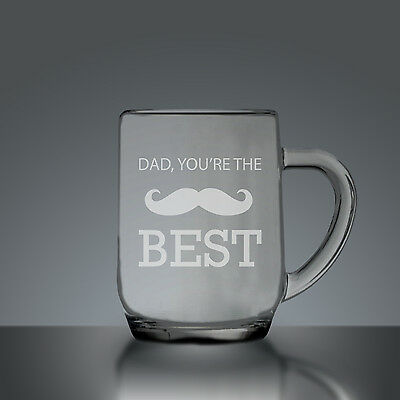 Dad, You're The Best Fathers Day Half Pint Tankard - Half Pint Tankard Etched Gl