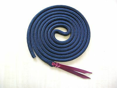 "Rose Lodge 14' x 1/2"" BLACK DB Yacht Rope Tie on Horse Lead or Lunge Long Line"
