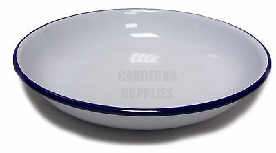 Falcon Enamel Pasta/Rice Plate - Traditional White 22cm