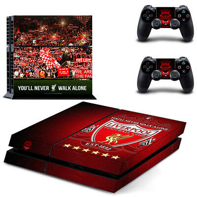 Sony PS4 Skin Sticker Liverpool Vinyl Decal for Console & 2 Controllers NEW