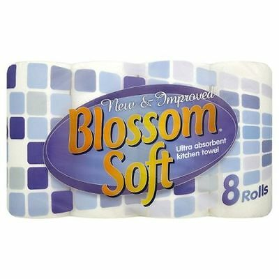 24 Pack Ultra Absorbent 2 ply Kitchen White Paper Towel Rolls | Blossom Soft