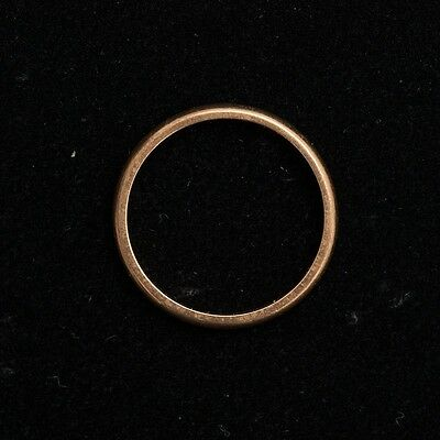 Antique Estate 14k Yellow Gold Ring Size 6 Curved Band 2mm Wide 1.6 Grams