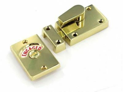 Securit Toilet Door Brass Indicator Bolt 63Mm - Vacant Engaged Bathroom - S2543