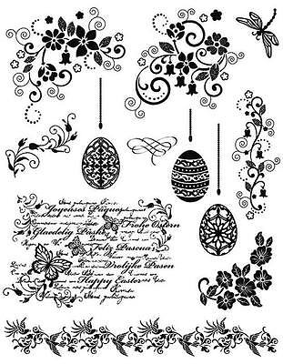 VIVA DECOR A5 Silicone Stamps D13 EASTER STAMPS 14 x 18cm 400301300 Eggs Borders