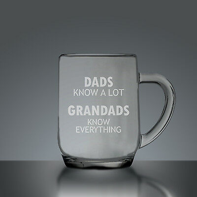 Dads Know A Lot Grandads Know Everything Fathers Day Half Pint Tankard - Half Pi