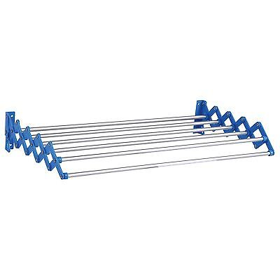 Indoor Outdoor Wall Mounted Extendible Aluminium Clothes Dryer Rack Horse Airer