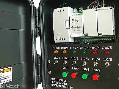 Allen Bradley Micro820 PLC Trainer with New 2080-LC20-20QWB PLC & CCW Software