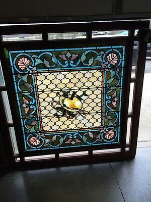 Antique Painters Palette Stainglass Window With Many Jewels