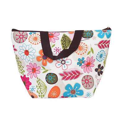 Lunch Box Bag Tote Insulated Cooler Carry Bag for Picnic - Floral ED