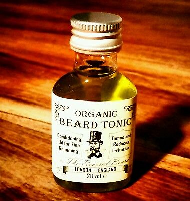 Organic Conditioning Beard Oil, 20ml, light scent, Beard Tonic by Revered Beard
