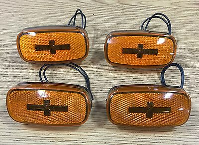 Replacement Amber Clearance Lights - Set of 4 for Coleman / Fleetwood Campers