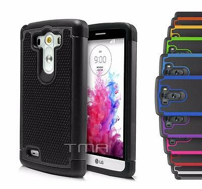 Fits LG G3 Case Rugged Rubber Dual Layer Impact Hybrid Shockproof Armor Cover
