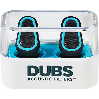 DUBS Acoustic Filters 12 dB Noise Reduction, Hearing Protection Ear Plugs - Blue