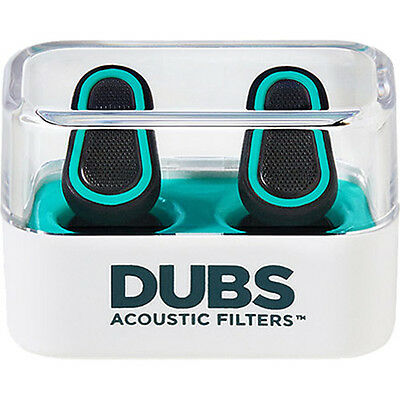 DUBS Acoustic Filters 12 dB Noise Reduction, Hearing Protection Ear Plugs -Green
